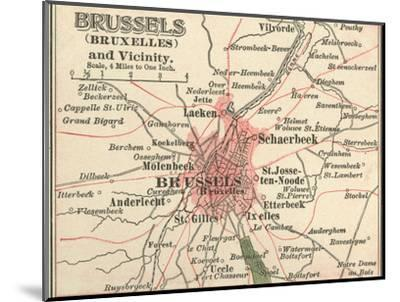 Map of Brussels (C. 1900), Maps-Encyclopaedia Britannica-Mounted Giclee Print