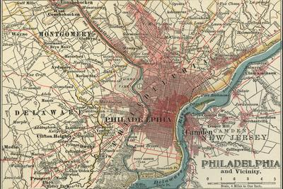 1900 Map Of The World.Map Of Philadelphia C 1900 Maps Giclee Print By Encyclopaedia