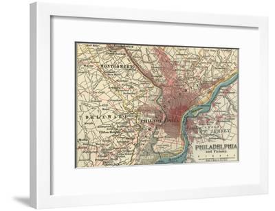 Map of Philadelphia (C. 1900), Maps Giclee Print by Encyclopaedia ...