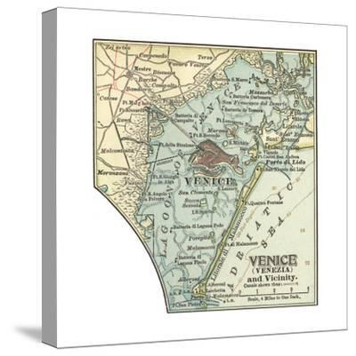 Map of Venice (C. 1900), Maps-Encyclopaedia Britannica-Stretched Canvas Print