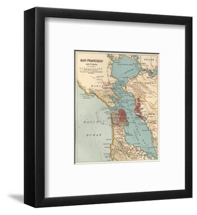Map of the San Francisco Bay Area (C  1900), Maps Giclee Print by  Encyclopaedia Britannica | Art com