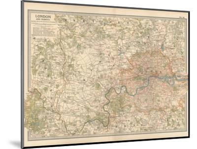 Plate 10. Map of London and Vicinity. England-Encyclopaedia Britannica-Mounted Giclee Print