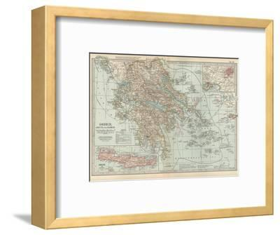 Plate 36. Map of Greece-Encyclopaedia Britannica-Framed Giclee Print