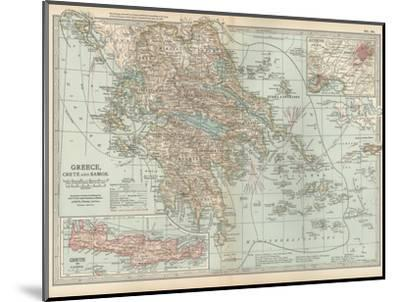 Plate 36. Map of Greece-Encyclopaedia Britannica-Mounted Giclee Print