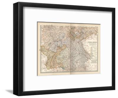 Plate 23. Map of the German Empire-Encyclopaedia Britannica-Framed Giclee Print