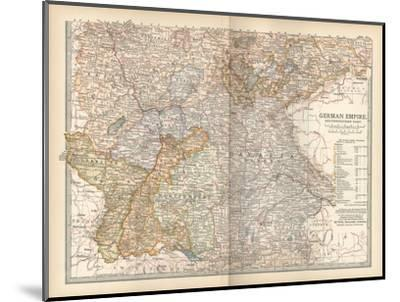 Plate 23. Map of the German Empire-Encyclopaedia Britannica-Mounted Giclee Print