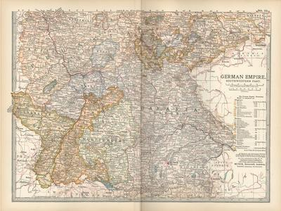 Plate 23. Map of the German Empire-Encyclopaedia Britannica-Stretched Canvas Print