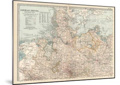 Plate 22. Map of the German Empire-Encyclopaedia Britannica-Mounted Giclee Print