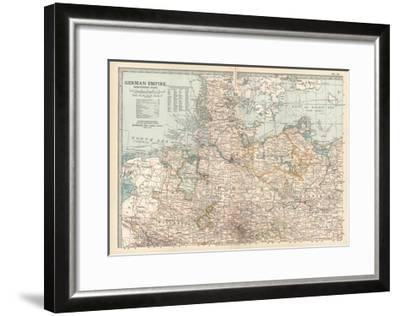 Plate 22. Map of the German Empire-Encyclopaedia Britannica-Framed Giclee Print