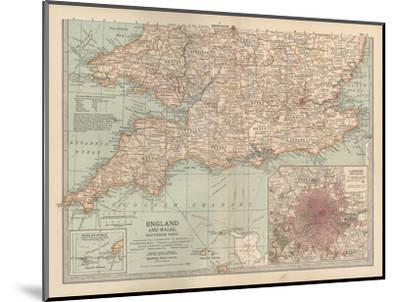 Plate 5. Map of England and Wales-Encyclopaedia Britannica-Mounted Giclee Print
