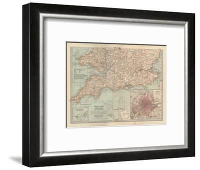 Plate 5. Map of England and Wales-Encyclopaedia Britannica-Framed Giclee Print