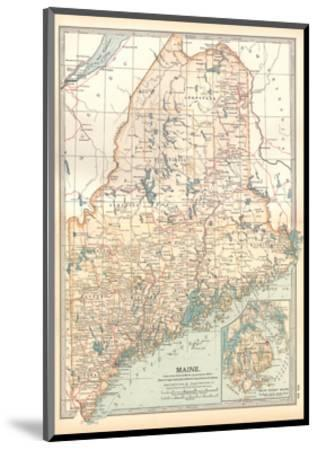 Map of Maine, United States. Inset of Mount Desert Island-Encyclopaedia Britannica-Mounted Giclee Print
