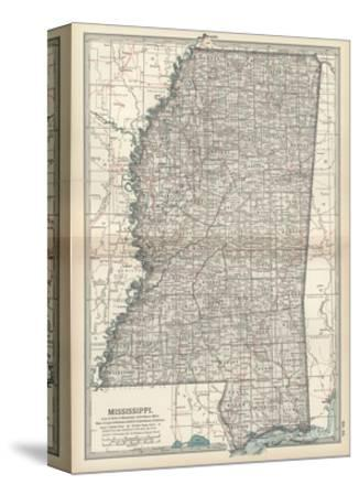 Plate 85. Map of Mississippi. United States-Encyclopaedia Britannica-Stretched Canvas Print