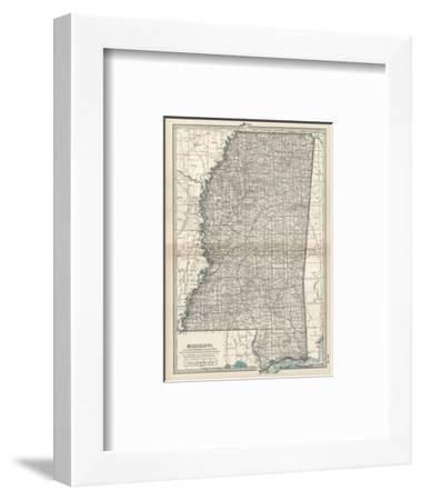 Plate 85. Map of Mississippi. United States-Encyclopaedia Britannica-Framed Giclee Print