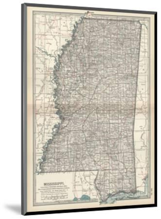 Plate 85. Map of Mississippi. United States-Encyclopaedia Britannica-Mounted Giclee Print
