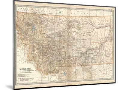 Plate 107. Map of Montana. United States-Encyclopaedia Britannica-Mounted Giclee Print