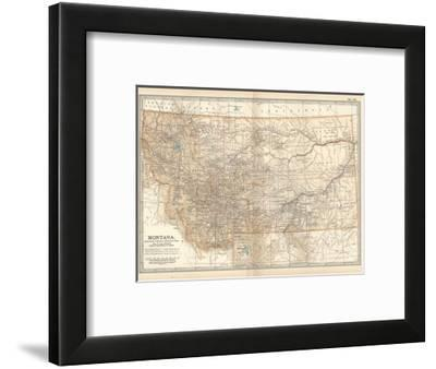 Plate 107. Map of Montana. United States-Encyclopaedia Britannica-Framed Giclee Print
