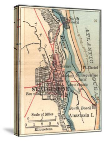 Map Of St Augustine Florida.Inset Map Of St Augustine Florida Giclee Print By Encyclopaedia