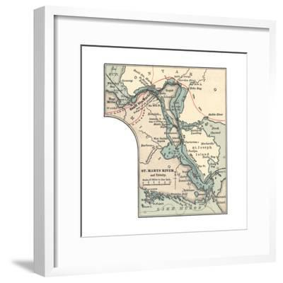 Inset Map of St. Marys River and Vicinity, with Sault Ste-Encyclopaedia Britannica-Framed Giclee Print