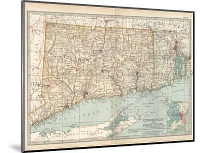 Plate 68. Map of Connecticut and Rhode Island-Encyclopaedia Britannica-Mounted Giclee Print