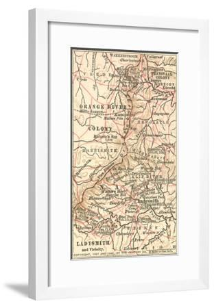 Inset Map of Ladysmith and Vicinity. South Africa-Encyclopaedia Britannica-Framed Giclee Print