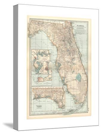 Plate 81. Map of Florida. United States. Inset Maps of Jacksonville-Encyclopaedia Britannica-Stretched Canvas Print