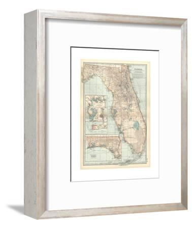 Plate 81. Map of Florida. United States. Inset Maps of Jacksonville-Encyclopaedia Britannica-Framed Giclee Print