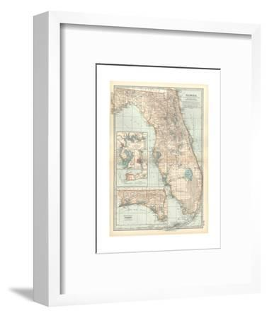 Plate 81 Map Of Florida United States Inset Maps Of Jacksonville