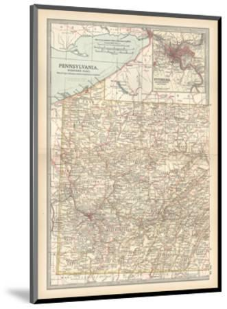 Plate 74. Map of Pennsylvania-Encyclopaedia Britannica-Mounted Giclee Print
