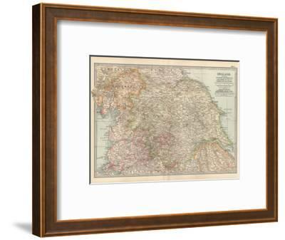 Plate 7. Map of England. Section II. Yorkshire-Encyclopaedia Britannica-Framed Giclee Print