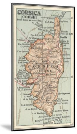 Plate 18. Inset Map of Corsica (Corse). Europe-Encyclopaedia Britannica-Mounted Giclee Print