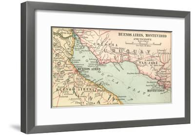 Plate 124. Inset Map of Buenos Aires-Encyclopaedia Britannica-Framed Giclee Print
