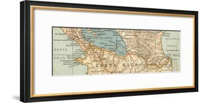 Map of the proposed Nicaragua Canal-Encyclopaedia Britannica-Framed Giclee Print