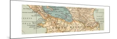 Map of the proposed Nicaragua Canal-Encyclopaedia Britannica-Mounted Giclee Print