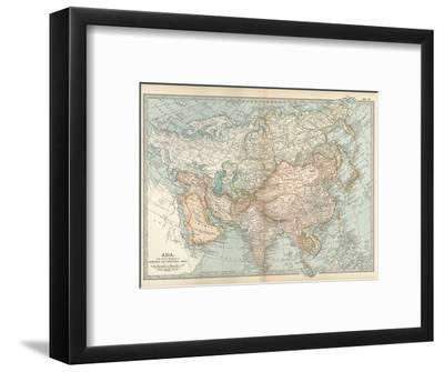 Map of Asia, with Special Reference to Siberia and Central Asia-Encyclopaedia Britannica-Framed Giclee Print