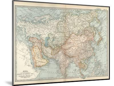 Map of Asia, with Special Reference to Siberia and Central Asia-Encyclopaedia Britannica-Mounted Giclee Print
