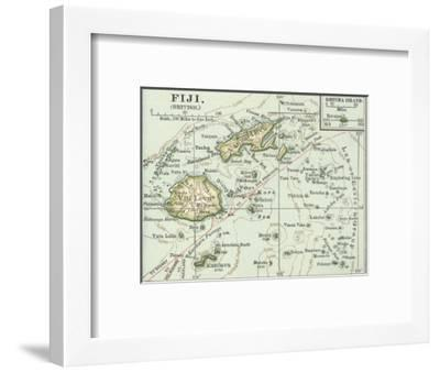 Inset Map of Fiji Islands (British). South Pacific. Oceania-Encyclopaedia Britannica-Framed Giclee Print