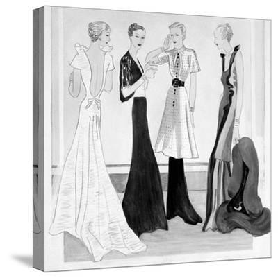Vogue - September 1934-Eduardo Garcia Benito-Stretched Canvas Print