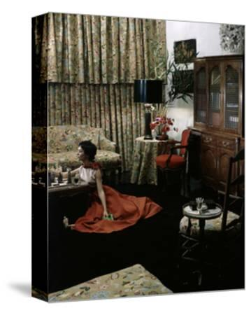 House & Garden - May 1949-Horst P. Horst-Stretched Canvas Print