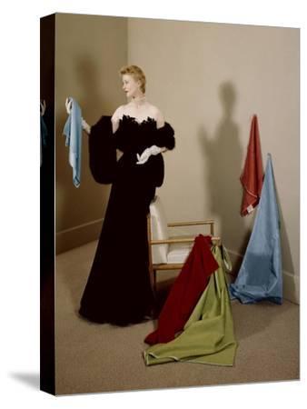 House & Garden - September 1950-Herbert Matter-Stretched Canvas Print