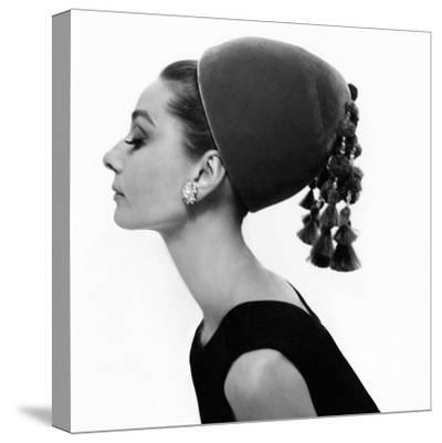 Vogue - August 1964 - Audrey Hepburn in Velvet Hat-Cecil Beaton-Stretched Canvas Print