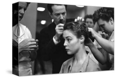 Vogue - June 1949-Constantin Joff?-Stretched Canvas Print