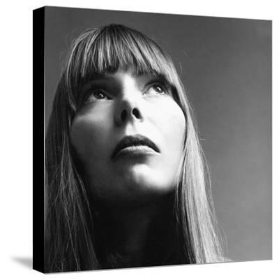 Vogue - February 1969 - Joni Mitchell-Jack Robinson-Stretched Canvas Print