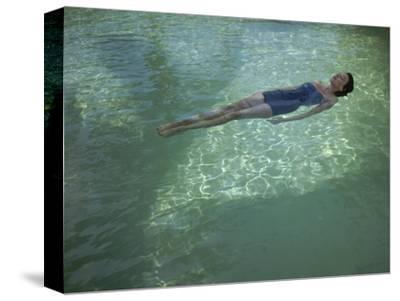 Vogue - July 1948 - Bathing Beauty-John Rawlings-Stretched Canvas Print