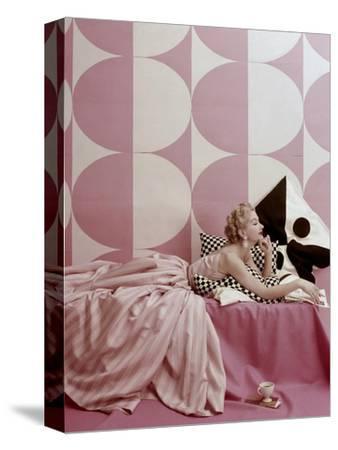 Vogue - April 1952-Richard Rutledge-Stretched Canvas Print