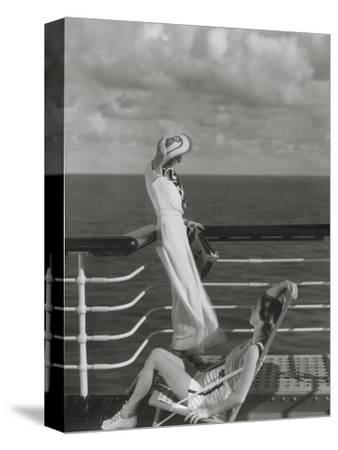 Vogue - July 1934 - Cruising to Hawaii-Edward Steichen-Stretched Canvas Print