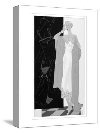 Vogue - November 1934-Eduardo Garcia Benito-Stretched Canvas Print
