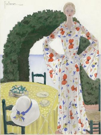 Vogue - July 1931-Georges Lepape-Stretched Canvas Print