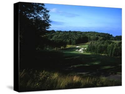 Patriot Hills Golf Club, Hole 1-Stephen Szurlej-Stretched Canvas Print