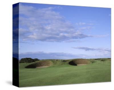 Carnoustie Golf Links, side-by-side bunkers-Stephen Szurlej-Stretched Canvas Print